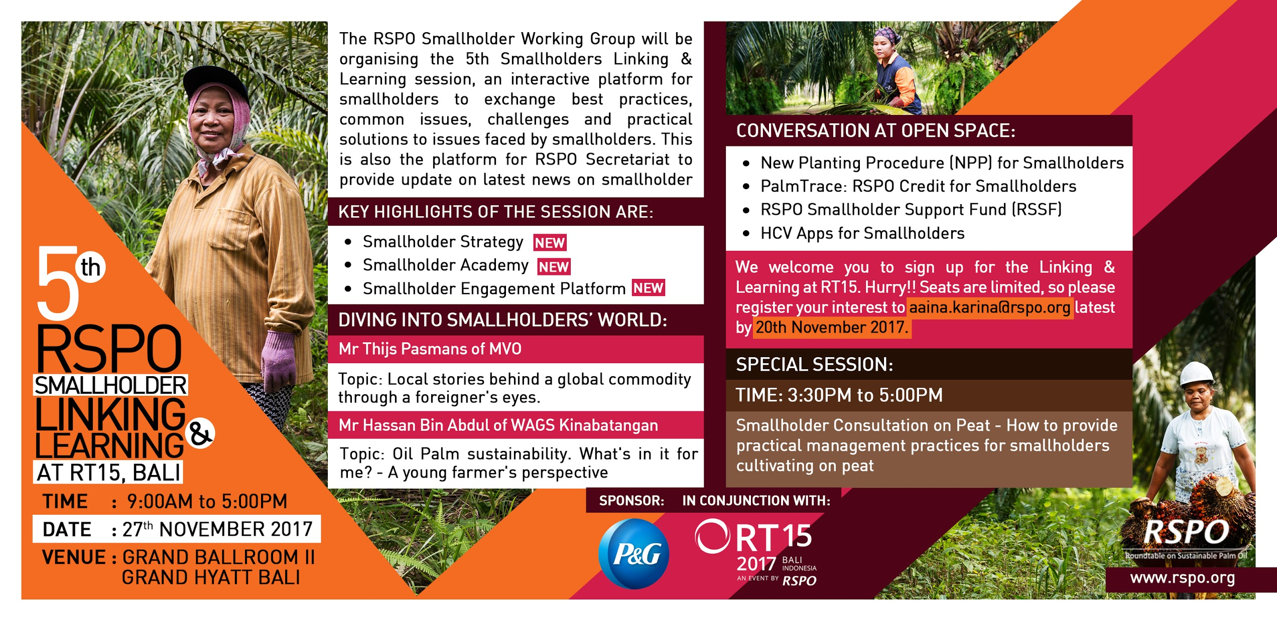 5th RSPO Smallholder Linking & Learning at RT15, Bali