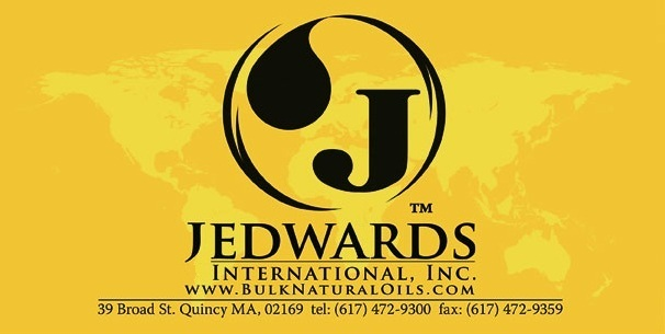 Jedwards International, Inc. distributes and supplies a range of natural oils, organic butters, waxes, essential oils, omega 3 fish oil, cocoa, and chocolate to food, cosmetic, soap making and Location: 39 Broad Street Quincy, MA United States.