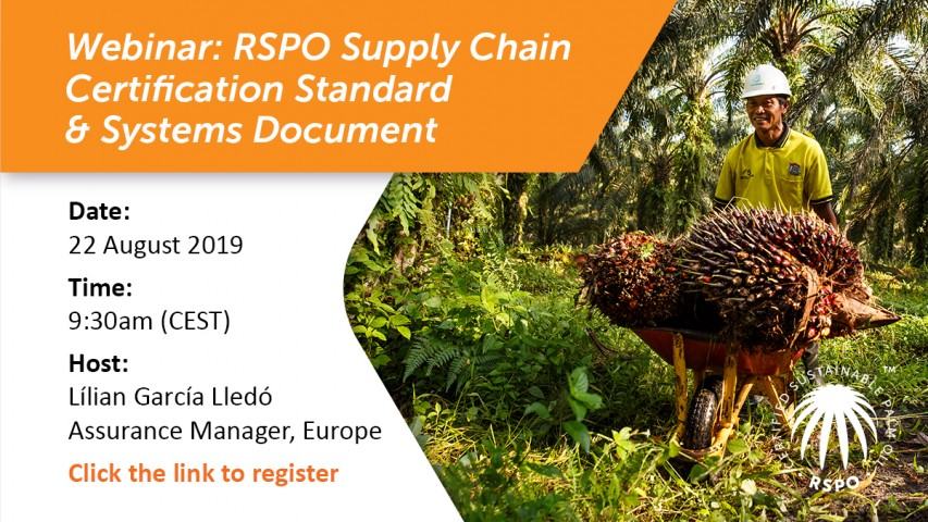 WEBINAR: Have your say on the changes to the RSPO's Supply